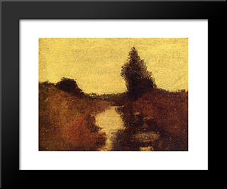 Landscape: Modern Black Framed Art Print by Albert Pinkham Ryder