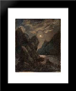 Lorelei: Modern Black Framed Art Print by Albert Pinkham Ryder