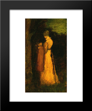 Mother And Child: Modern Black Framed Art Print by Albert Pinkham Ryder