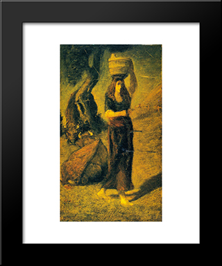 Perrette: Modern Black Framed Art Print by Albert Pinkham Ryder