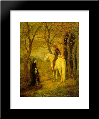 Roadside Meeting: Modern Black Framed Art Print by Albert Pinkham Ryder