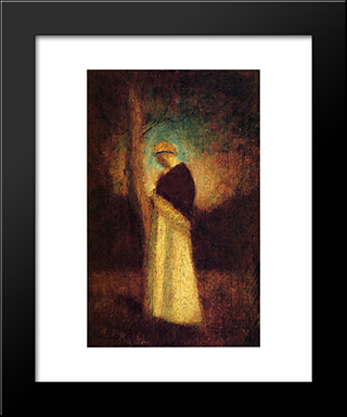 Spirit Of Autumn: Modern Black Framed Art Print by Albert Pinkham Ryder