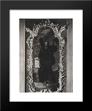 An Icon From The Iconostasis Of The St. Andrew'S Church In Kiev: Modern Black Framed Art Print by Aleksey Antropov