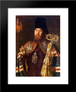 Archbishop Sylvester Kuliabka: Modern Black Framed Art Print by Aleksey Antropov