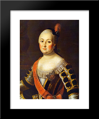 Countess Anna Vorontsova: Modern Black Framed Art Print by Aleksey Antropov