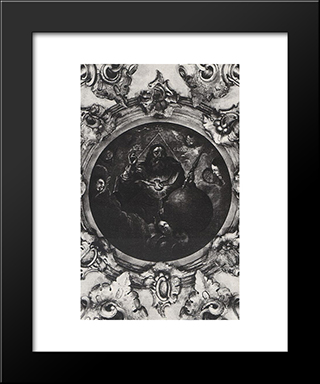 Lord God Safaof: Modern Black Framed Art Print by Aleksey Antropov