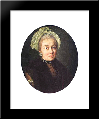 Portrait Of An Unknown Lady: Modern Black Framed Art Print by Aleksey Antropov