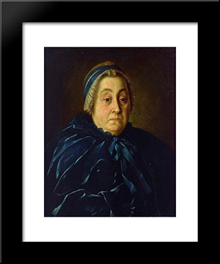 Portrait Of Anna Vasiliyevna Buturlina: Modern Black Framed Art Print by Aleksey Antropov
