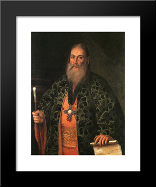 Portrait Of Fyodor Dubyansky: Modern Black Framed Art Print by Aleksey Antropov