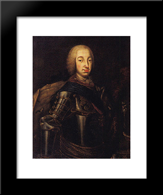 Portrait Of Grand Duke Peter Fedotovich (Later Peter Iii),: Modern Black Framed Art Print by Aleksey Antropov
