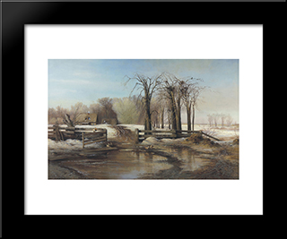 A Spring Day: Modern Black Framed Art Print by Aleksey Savrasov