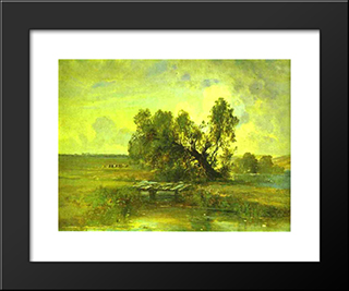 After A Thunderstorm: Modern Black Framed Art Print by Aleksey Savrasov