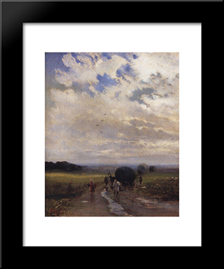 After The Rain: Modern Black Framed Art Print by Aleksey Savrasov