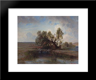 After The Storm: Modern Black Framed Art Print by Aleksey Savrasov