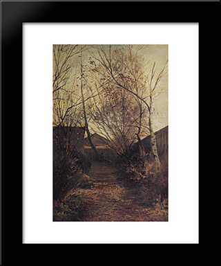 Alley: Modern Black Framed Art Print by Aleksey Savrasov