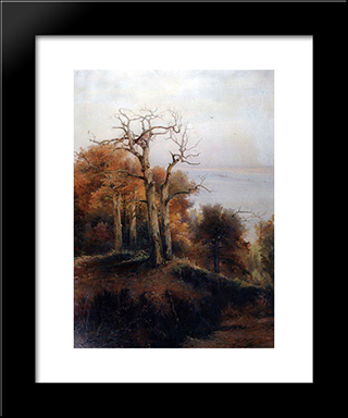 Autumn Forest. Kuntsevo (Damn Place): Custom Black Wood Framed Art Print by Aleksey Savrasov