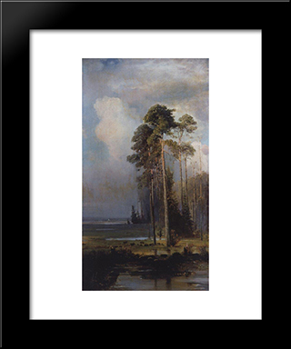 Autumn. Sokolniki: Custom Black Wood Framed Art Print by Aleksey Savrasov
