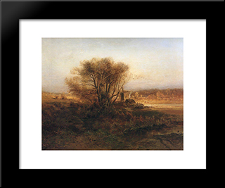 Autumn: Modern Black Framed Art Print by Aleksey Savrasov