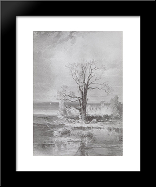 Autumn Landscape: Modern Black Framed Art Print by Aleksey Savrasov