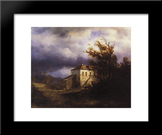 Before The Storm: Modern Black Framed Art Print by Aleksey Savrasov