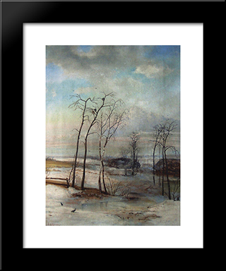 Breath Of Spring: Modern Black Framed Art Print by Aleksey Savrasov