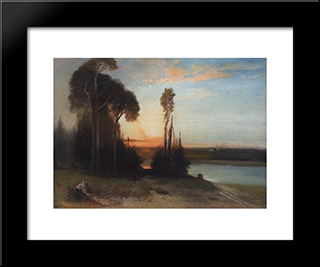By Evening: Modern Black Framed Art Print by Aleksey Savrasov