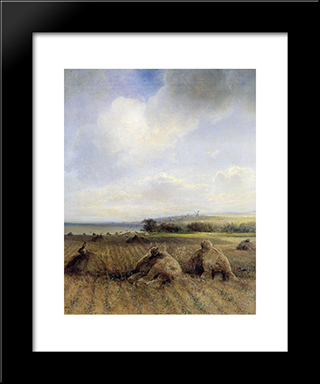 By Late Summer, On The Volga: Modern Black Framed Art Print by Aleksey Savrasov