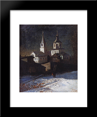 Church Of Elijah The Ordinary In Moscow: Modern Black Framed Art Print by Aleksey Savrasov