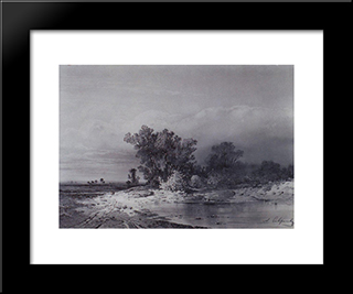 Clearance: Modern Black Framed Art Print by Aleksey Savrasov