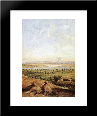 Compressed Field: Modern Black Framed Art Print by Aleksey Savrasov