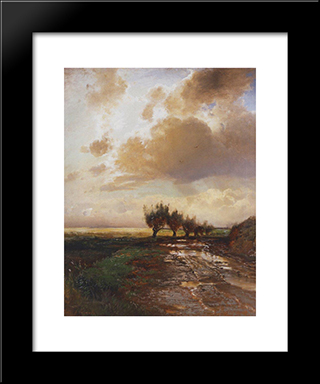 Country Road: Modern Black Framed Art Print by Aleksey Savrasov
