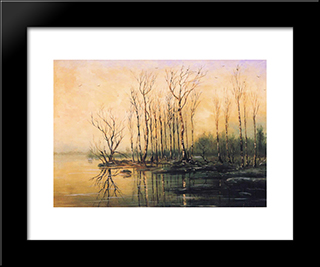 Dimensions And Material Of Painting: Modern Black Framed Art Print by Aleksey Savrasov