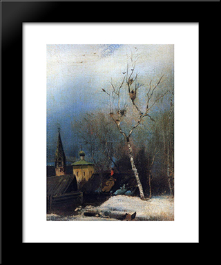 Early Spring: Custom Black Wood Framed Art Print by Aleksey Savrasov