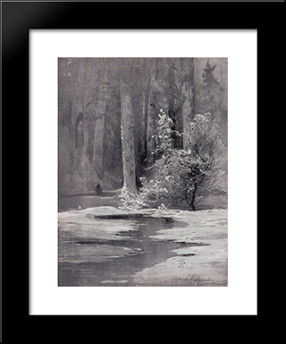 Early Spring. Backwoods: Custom Black Wood Framed Art Print by Aleksey Savrasov