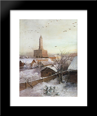 Early Spring. Flood: Modern Black Framed Art Print by Aleksey Savrasov