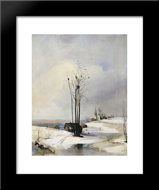 Early Spring. Thaw: Modern Black Framed Art Print by Aleksey Savrasov