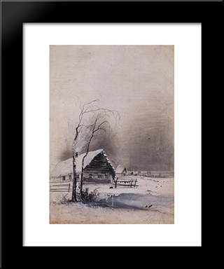 Early Spring: Modern Black Framed Art Print by Aleksey Savrasov