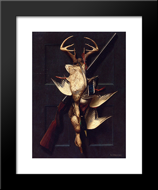 A Hunter'S Still Life: Modern Black Framed Art Print by Alexander Pope