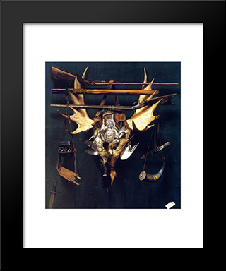 After The Hunt: Modern Black Framed Art Print by Alexander Pope