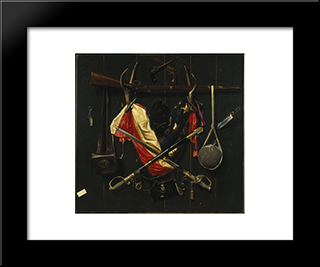 Emblems Of The Civil War: Modern Black Framed Art Print by Alexander Pope