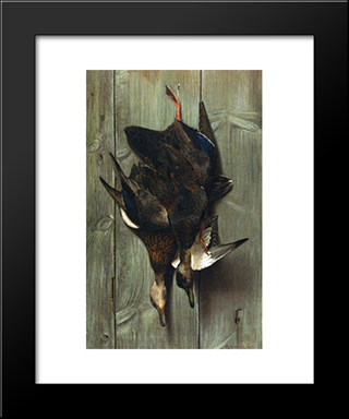 Hanging Ducks: Modern Black Framed Art Print by Alexander Pope