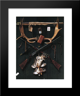 Sportsman'S Still Life: Modern Black Framed Art Print by Alexander Pope