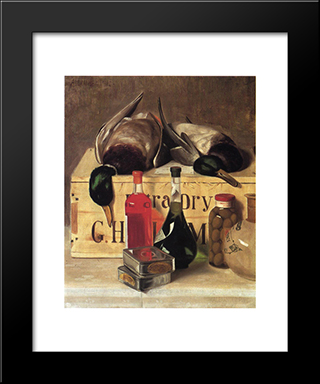 Still Life With Mallards: Modern Black Framed Art Print by Alexander Pope