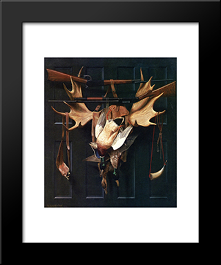 Successful Hunter: Modern Black Framed Art Print by Alexander Pope