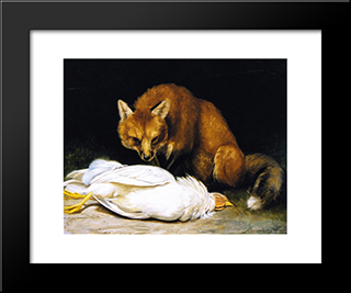 The Fox - Fair Game: Modern Black Framed Art Print by Alexander Pope