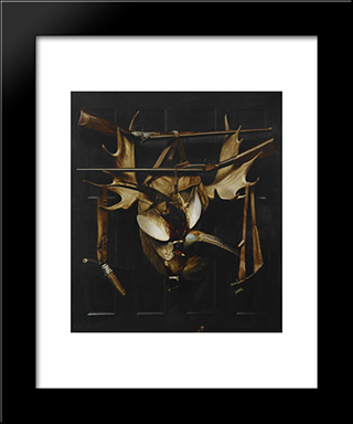 Trophies Of The Hunt: Modern Black Framed Art Print by Alexander Pope