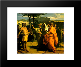 Cincinnatus Receiving Deputies Of The Senate: Modern Black Framed Art Print by Alexandre Cabanel