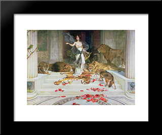 Circe: Modern Black Framed Art Print by Alexandre Cabanel