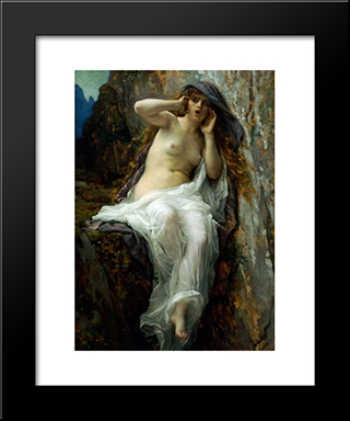 Echo: Modern Black Framed Art Print by Alexandre Cabanel