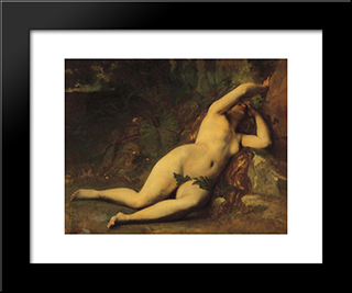 Eve After The Fall: Modern Black Framed Art Print by Alexandre Cabanel